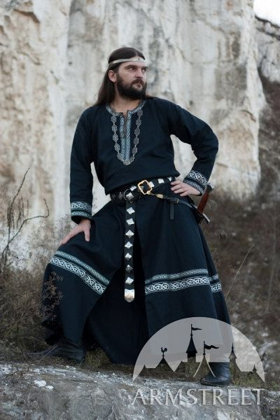 Hey, I found this really awesome Etsy listing at https://www.etsy.com/listing/97589475/black-medieval-mens-tunic-raven-sca