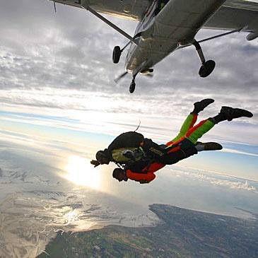 Saut parachute en tandem Mont Saint Michel 50 - #parachute #sauttandem