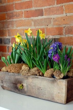 How to build a simple rustic planter box - Just in time for Easter
