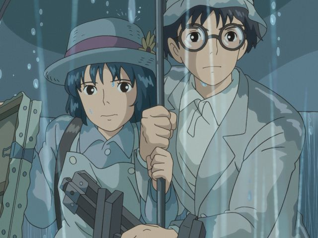 I plan on seeing this today.  As just Friends would you like to see it will me. There's a 7pm and 11:50 today. Miyazaki's anime cartoon The wind rises. Also did Howl's Moving Castle.