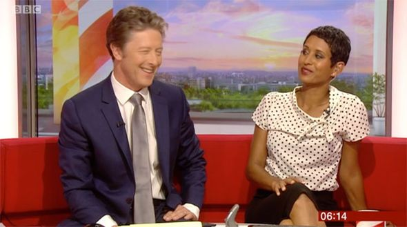 BBC Breakfast: 'Naughty Naga!' Host makes hysterical innuendo about Charlie Stayt's PIPE - http://buzznews.co.uk/bbc-breakfast-naughty-naga-host-makes-hysterical-innuendo-about-charlie-stayts-pipe -