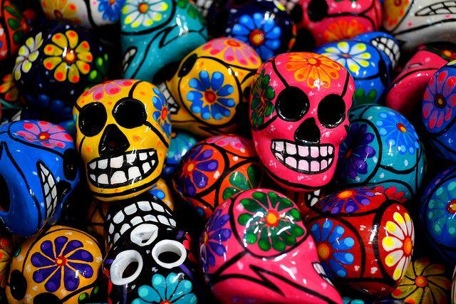 Mexican skulls by logatfer, via Flickr