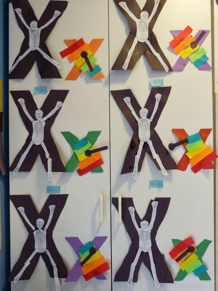 Paula's Preschool and Kindergarten: letter X crafts