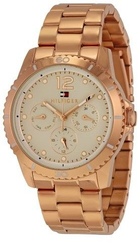 Tommy Hilfiger Tessa Multi-function Champagne Dial Rose Gold-tone Stainless Steel Ladies Watch 1781584