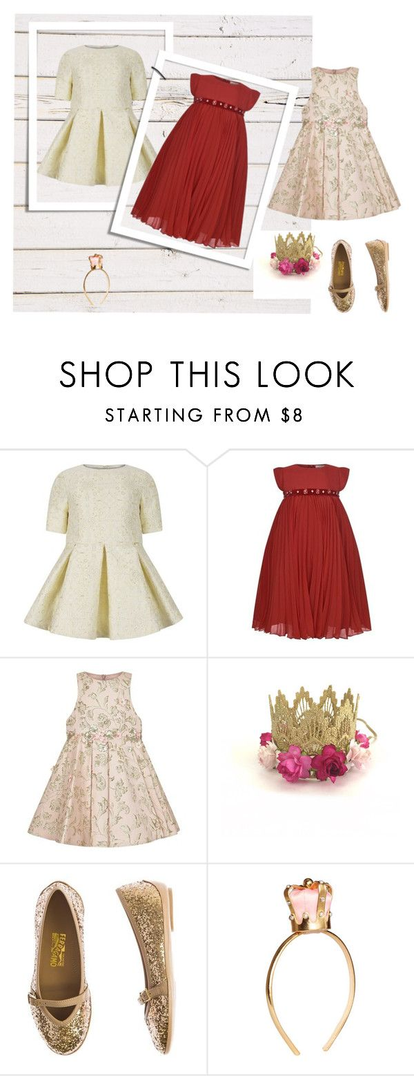 """look new year"" by baby-jam on Polyvore featuring мода, Mischka Aoki и Salvatore Ferragamo"