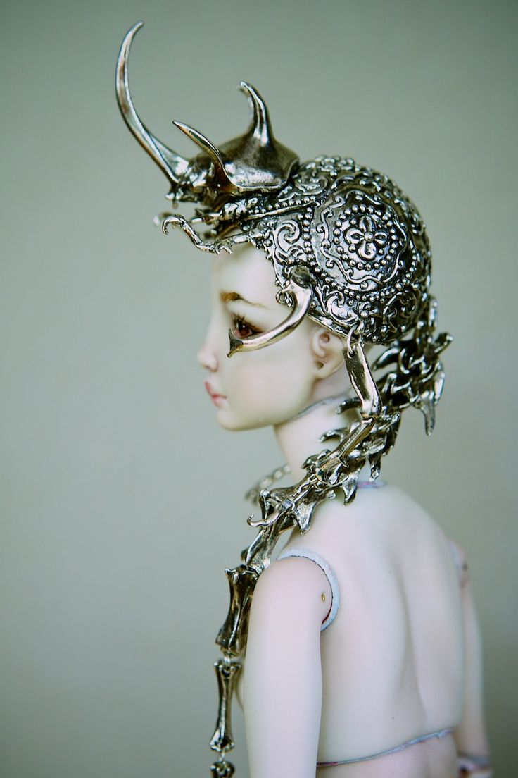 The Hybrid Beetle Crown by Marina Bychkova (Enchanted Doll)