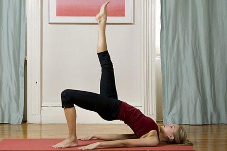 5. Bridge pose (setu bandha sarvangasana), variation http://www.womenshealthmag.com/fitness/yoga-abs-workout/5-bridge-pose-setu-bandha-sarvangasana-variation