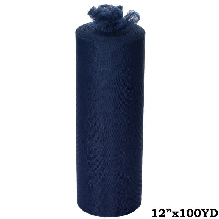 "12""x100yd Tulle Rolls - Navy Blue 