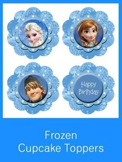 Frozen Cupcake Toppers - FREE PDF Download