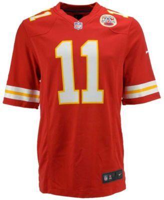 Nike Men's Alex Smith Kansas City Chiefs Game Jersey - Red M