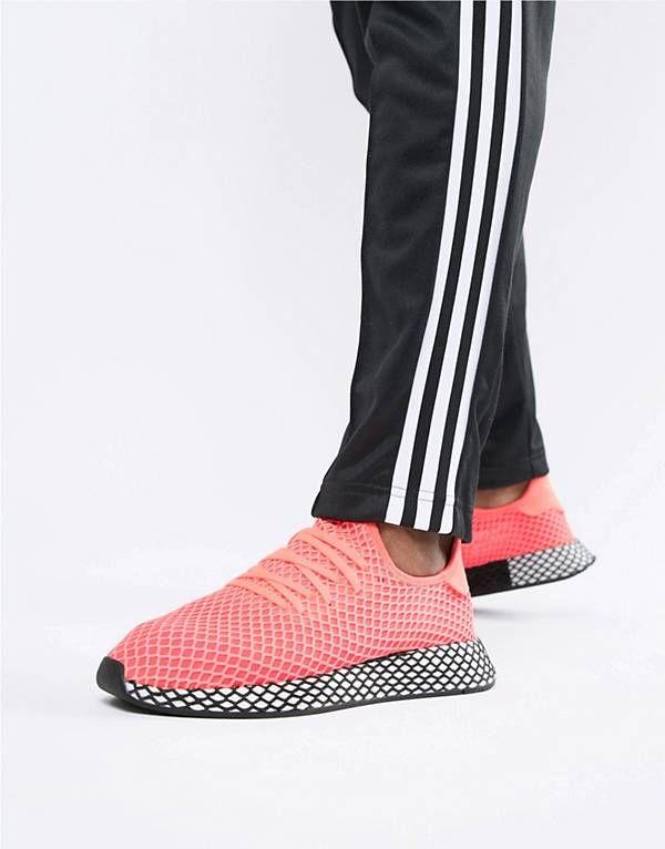 cbbe45b4188f45 adidas Originals Deerupt Sneakers In Pink B41769