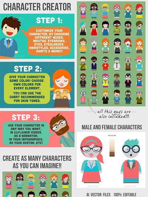 Character Creator 8983956 – Рассказчик для инфографики