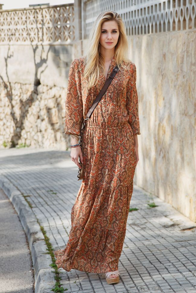 ChillNorway long boho dress in paisley print