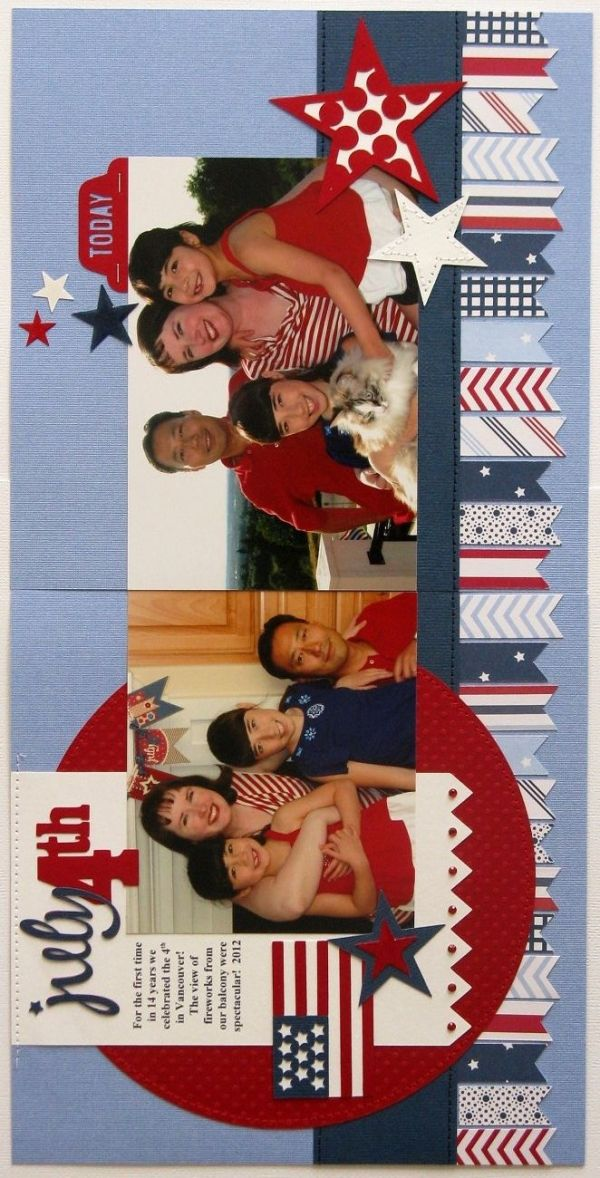 Pebbles Inc. Let Freedom Ring 4th of July layout - Scrapbook.com
