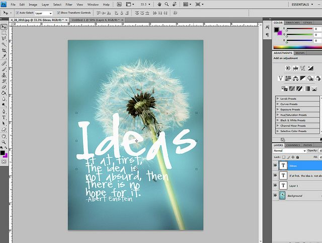 Make your own classroom posters  tut4 by Krissy.Venosdale, via Flickr