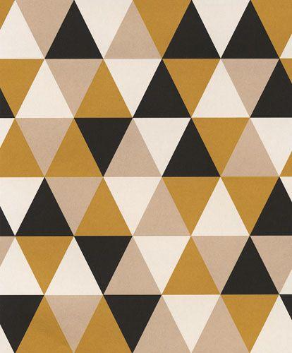 Trendig tapet med geometriskt mönster från kollektionen Podium POD504. Klicka för att se fler inspirerande tapeter för ditt hem!