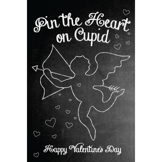 Pin the Heart on Cupid Printable | Valentines Day