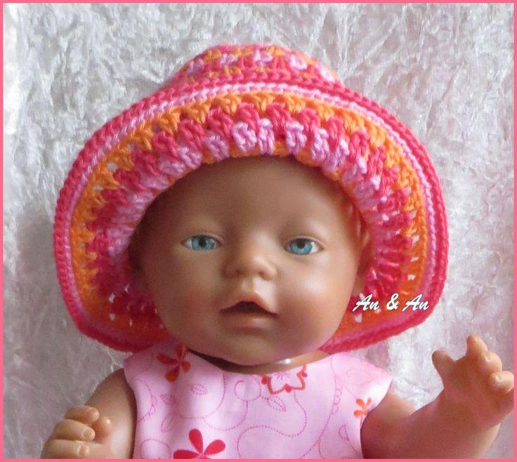 Gehaakt hoedje voor babyborn