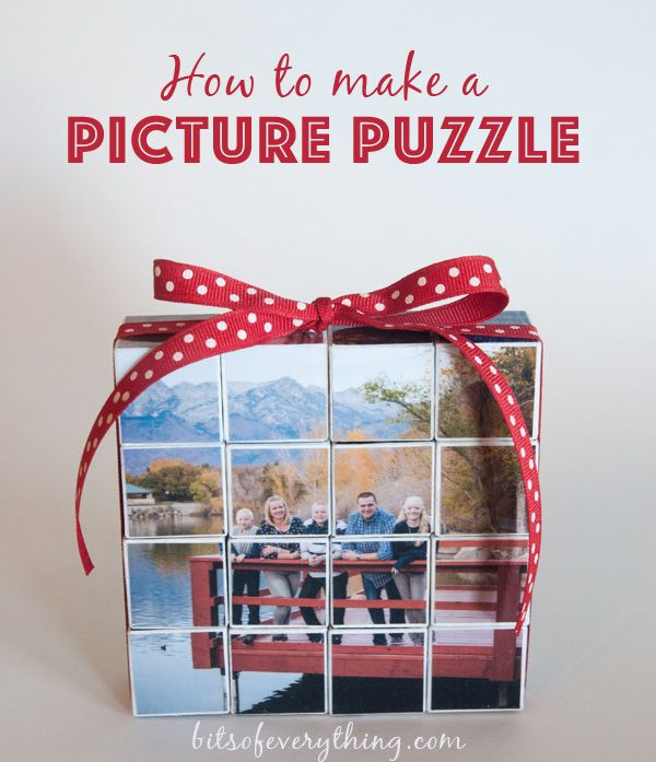 How to make your own custom Picture Puzzle - makes a great gift!!