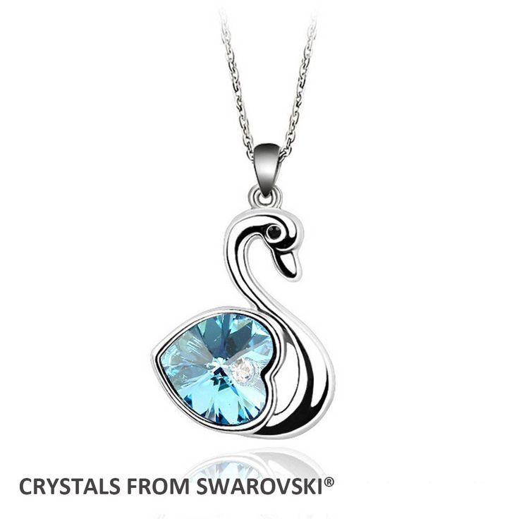 2015 День матери подарок! классический Лебедь ожерелье Кристаллами от Swarovski на Рождество