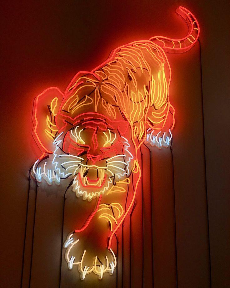 Neon Tiger Neon Wallpaper Neon Aesthetic Neon
