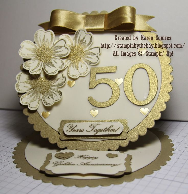 Stampin' By The Bay: Happy 50th Wedding Anniversary Mom & Dad!