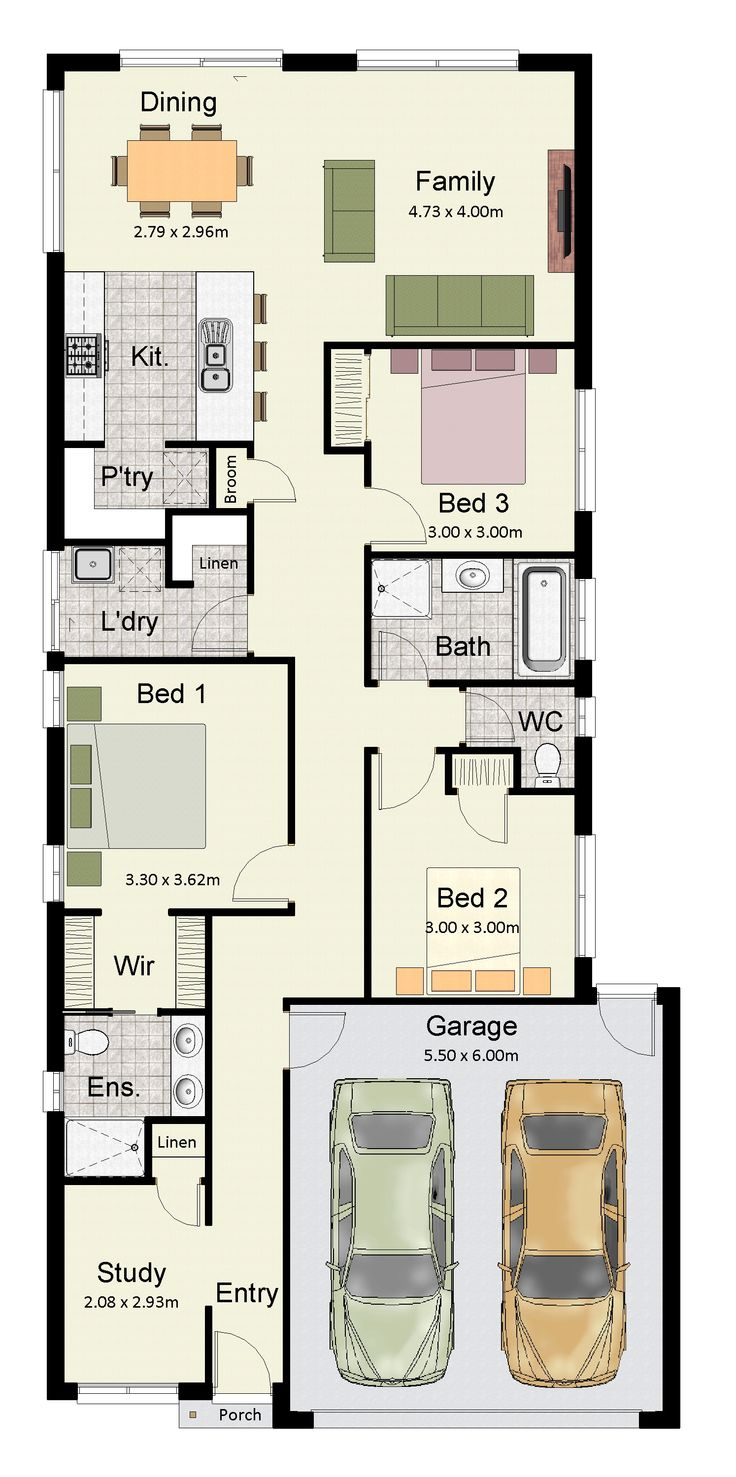 17 Best Images About Narrow Block Plans On Pinterest
