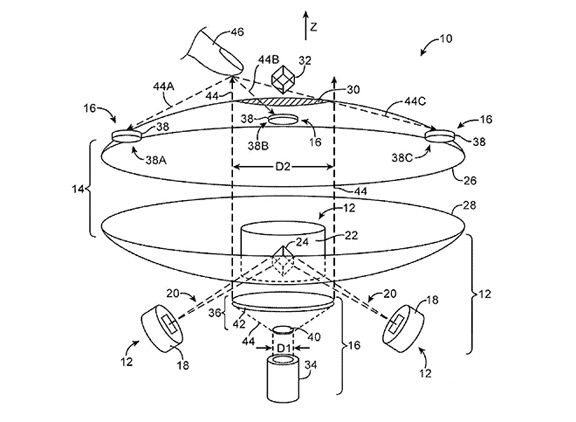 Apple разработала устройство, проецирующее 3D изображения в воздухе