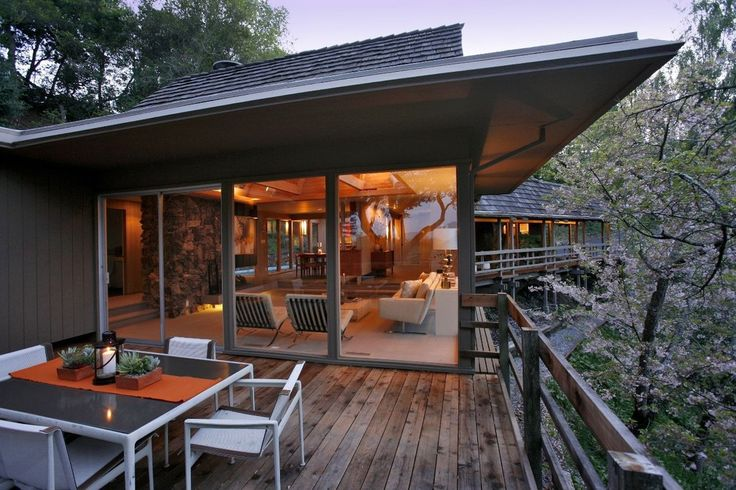 Contemporary Deck with exterior tile floors, exterior terracotta tile floors