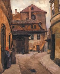 The Golem - Jewish Town (most of it was demolished in the end of 19th century) #Meyrink