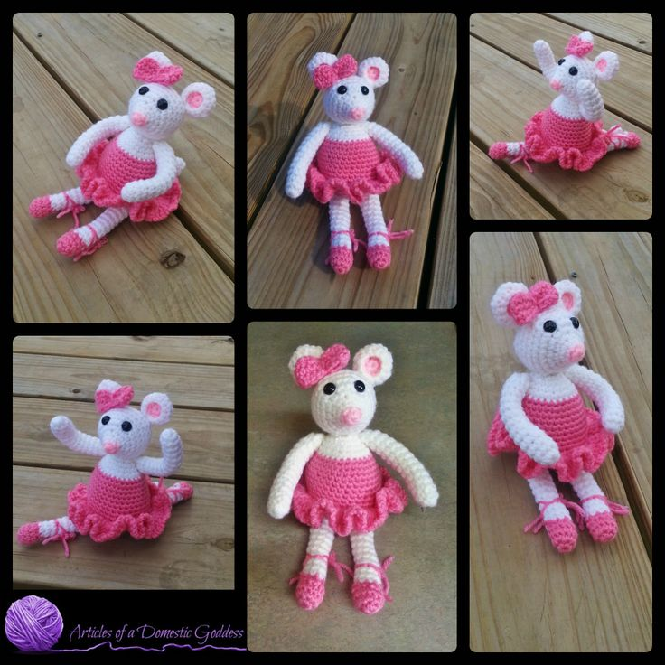 Free Knitting Pattern Angelina Ballerina : Pin by Donna Knox on Articles of a Domestic Goddess ...