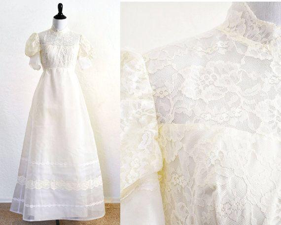 1960s wedding dress regency style gown in by for Regency style wedding dress