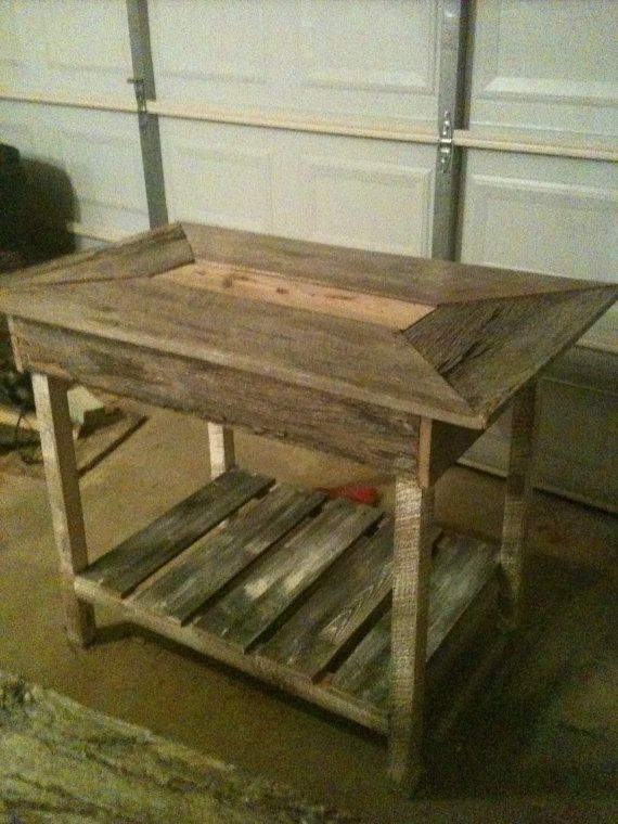 Rustic pubstyle table or Island by DyesDesign on Etsy, $450.00