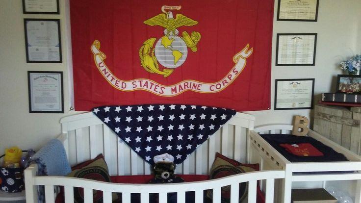 USMC baby boy nursery patriotic military baby