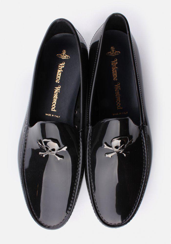 I DO need new dress shoes...   Vivienne Westwood Skull & Crossbone Men's Moccassin Black
