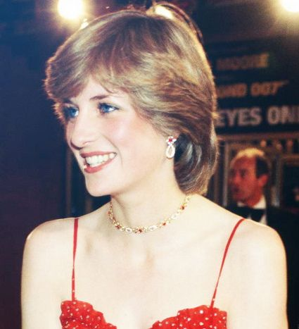Lady Diana looking so pretty on June 24,1981, at the James Bond premier.