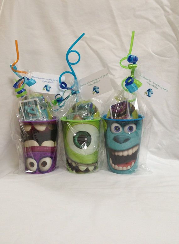 Love these party favours, or you could make them into presents for monsters inc lovers.