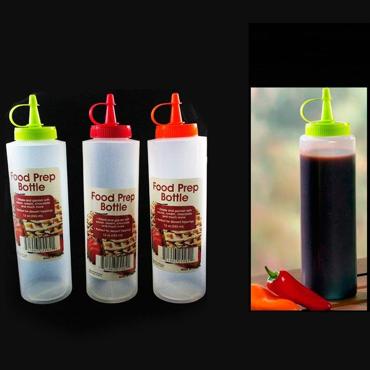 4 Pc 12oz Clear Plastic Squeeze Bottle Condiment Ketchup Mustard Oil Mayo Sauce
