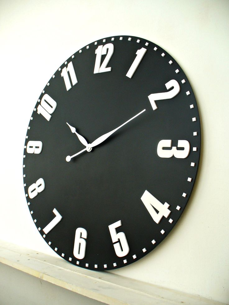 "Large wall clocks 33"" / 84 cm oversized wall clock by DecoLavka on Etsy"