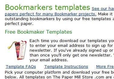 free bookmark templates - Google Search