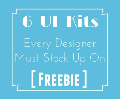 Remember, When was the last time you built a website from scratch?  With a great collection of UI kits, not only can designers now you can create stellar websites with superior features but they can do so in less than half the time..!!  So save up on oodles of time, effort and energy and use these 6 UI kits that will be a saving grace for a lot of your upcoming projects. Try it now...!!