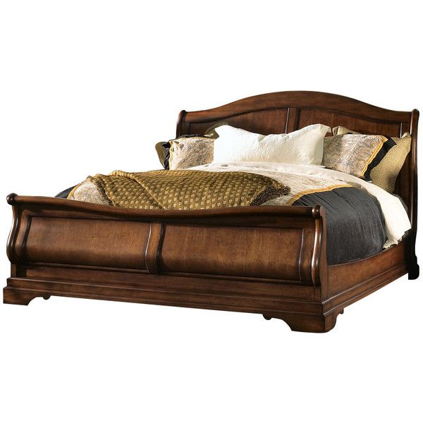 Fine Furniture Design RayLen Vineyards Sleigh Bed ($2,467) ❤ liked on Polyvore featuring home, furniture, beds, california king headboards, cal king sleigh bed, ca king bed, king headboard and queen headboard