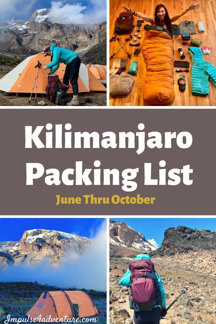 Simple Kilimanjaro Packing List Kilimanjaro Best Hiking Gear