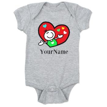 Happy Heart (p) Baby Bodysuit
