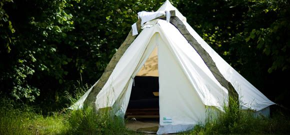 Glamping the bell tent, Coppice Woodland