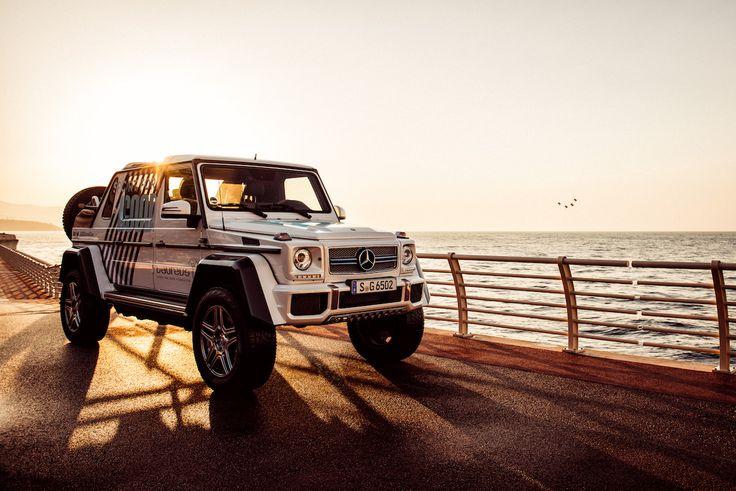 Seaside in the Mercedes-Maybach G-Class Landaulet.   #MBPhotoCredit: Florian Haizmann #MBSocialCar