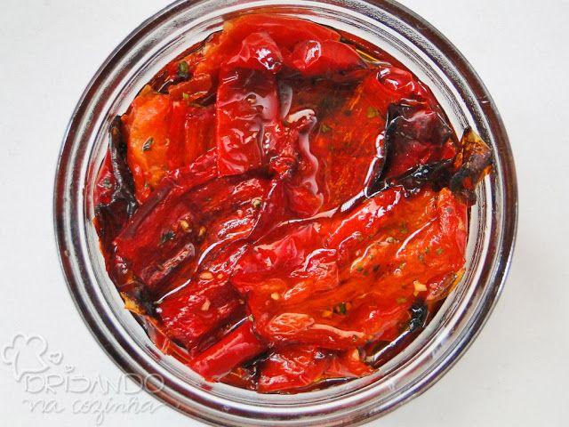 Brisando na Cozinha: Pimentões vermelhos assados