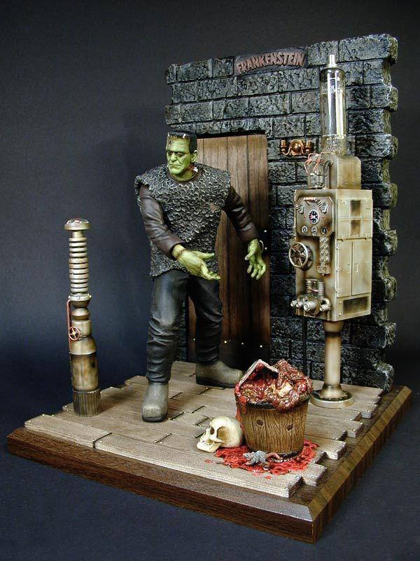 Frankenstein - Son Of Frankenstein Model Of The Monster In Dr. Frankenstein's Lab
