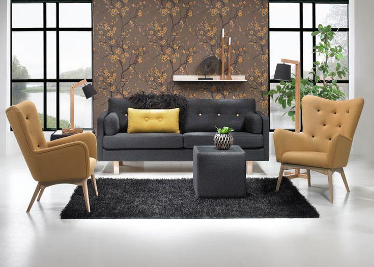 Toplinen Vega sohva ja Dixie nojatuoli Vega sofa and Dixie chair by Topline #kruunukaluste #ainain #homedeco #scandinavianhomes #interior #inspiration #interiordesign #homeinspiration #sisustus #sisustusinspiraatio #sisustusidea #modern  #retro #livingroom #sofa #sohva