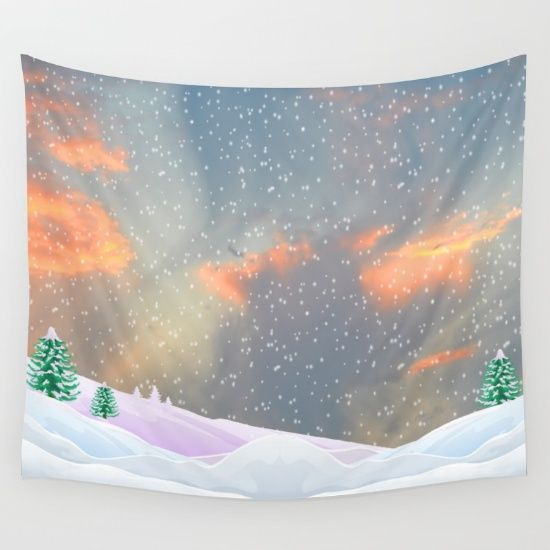 20% Off Free Worldwide Shipping Today #society6 #Christmas #shopping #sales #love #xmas #Noel #clouds #gift #ideas https://society6.com/product/my-snowland_tapestry#s6-6214133p42a55v412